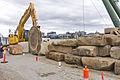 Komatsu PC228USLC-8 excavator with stone saw attachment at Barangaroo site open day (1).jpg
