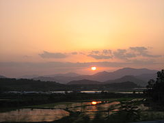 Korea-Gyeongju-Sunset. on rice.jpg