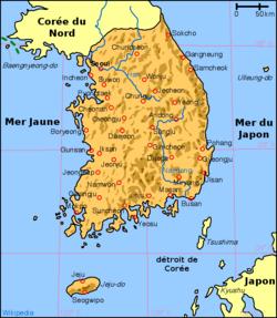 Géographie de la Corée du Sud — Wikipédia