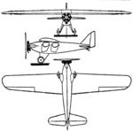 Korsa I 3-view Le Document aéronautique November,1927.png