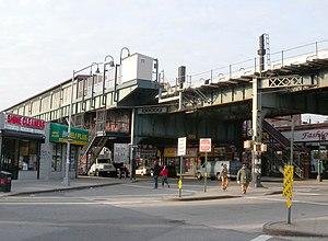 Kosciuszko Street (BMT Jamaica Line) - Street stair