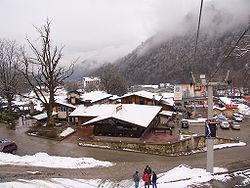 View of the ski resort of Krasnaya Polyana.