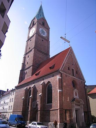 Kreuzkirche, Munich - All Saints Catholic Church on the cross