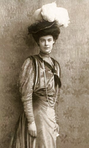 Herzogin Cecilie - Duchess Cecilie, Crown Princess of Prussia, in 1908, for whom the vessel was named.