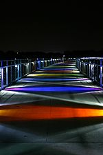 Kruidenier Trail Bridge at night