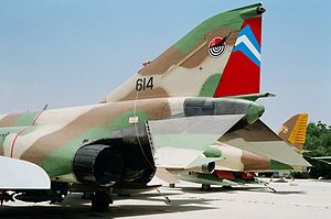 Operation Priha - F-4E Phantom II at the Israeli Air Force Museum, bearing the colours of 201 Squadron.