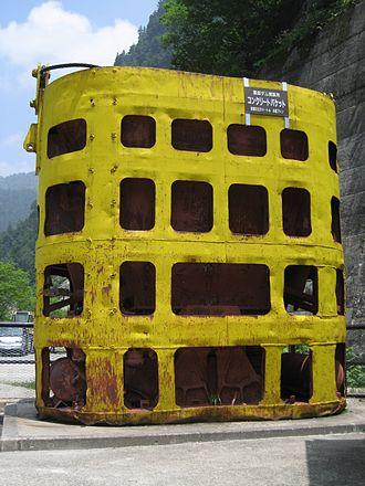 Kurobe Dam - Concrete bucket used during construction