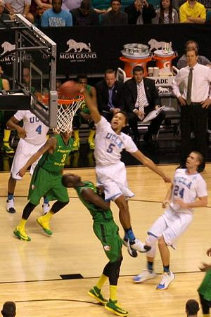 2014 Pac-12 Conference Men's Basketball Tournament - Kyle Anderson of UCLA dunks during quarterfinals against Oregon