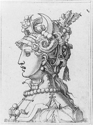 Léonard Thiry - Design for a woman's mask