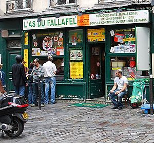 L'As du Fallafel - L'As du Fallafel restaurant in Paris, France.