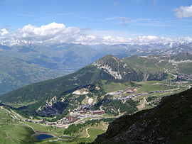 The ski station of La Plagne