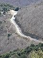 La carretera entre coll Bordoriol i coll de Sant Marçal vista des de més amunt del coll de Joan P1230572.JPG