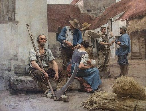 La paye des moissonneurs Léon Augustin Lhermitte