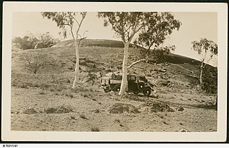 Coniston (Northern Territory) - Laden vehicle near Coniston Station, c. 1935