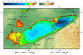 Lake Erie and Lake Saint Clair bathymetry map 2.png