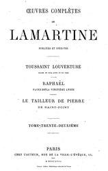 Alphonse de Lamartine: Œuvres complètes de Lamartine