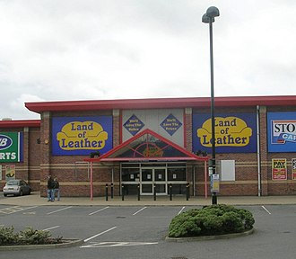Land of Leather - Land of Leather store in the Westgate Retail Park in Wakefield, England