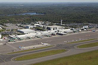 Göteborg Landvetter Airport - Image: Landvetter Air View