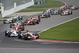Auto Racing  on The Start Of The Formula One 2008 Canadian Grand Prix