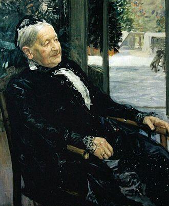 Alfred Beit - Mrs Laura Beit (Alfred and Otto Beit's mother), by Leopold von Kalckreuth