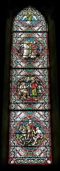 Vitrail de l'église Saint-Martin à Le Pas (53).