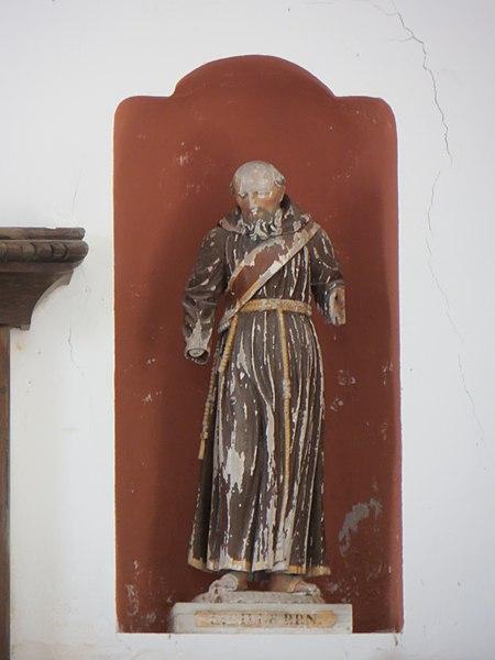 Statue de Saint Gilles à droite de l'autel