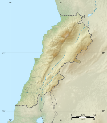Location map Lebanon