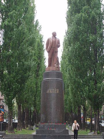 Das Lenin-Denkmal im Mai 2009