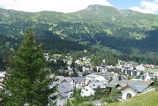Lenzerheide village in Switzerland
