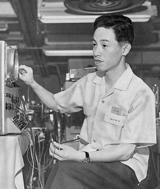 Leo Esaki - Leo Esaki works at Sony on June 27, 1959 in Tokyo, Japan