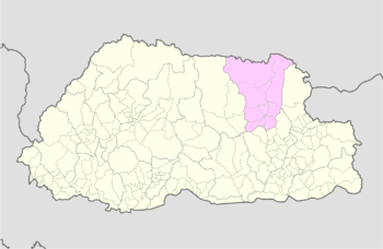Location of Gangzur Gewog