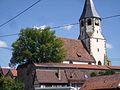 Lienzingen-Ansicht von Süden mit Kirche über Kirchhofmauer-070810.jpg