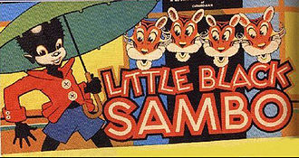 The Story of Little Black Sambo - Little Black Sambo board game (box lid)