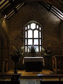 The East Window Of Southern Aisle Which Reuses Some 15th Century Tracery And Exposed Woodwork Roof