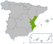 Comunidad Valenciana en en España