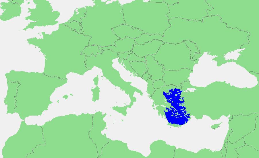 Locatie Egeische Zee