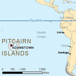 Location of Pitcairn Islands