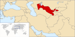 Location of Uzbékistan