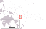 A map showing the location of Vanuatu