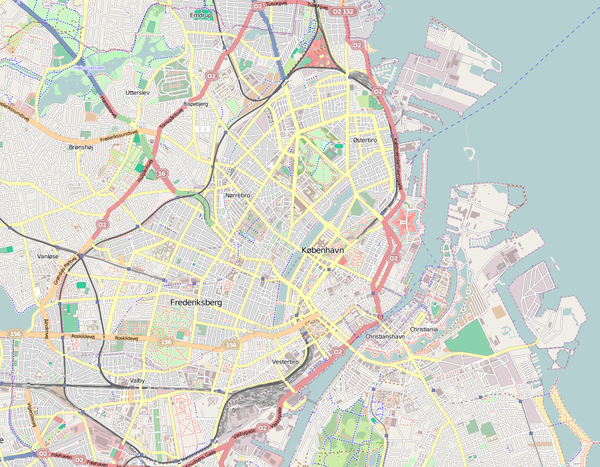 Location map Denmark Copenhagen.png