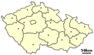 Křivoklát Castle - Location of Křivoklát Castle in the Czech Republic