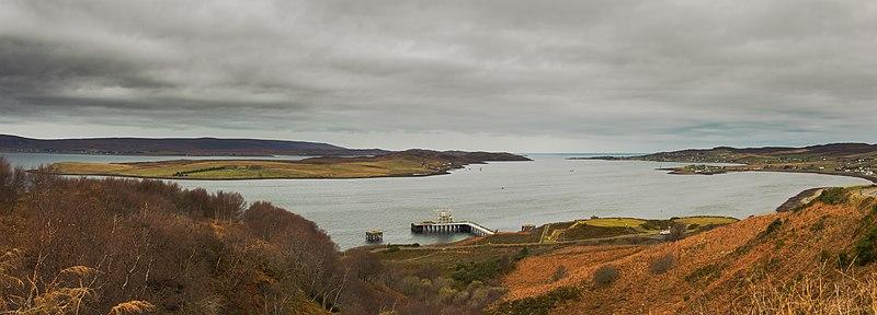 Vista panoramica di Loch Ewe