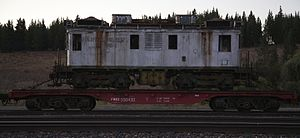 GE boxcab - Image: Locomotive on flatcar (5358011717)