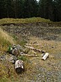 Logs and small quarry, Eskdalemuir forest - geograph.org.uk - 565806.jpg