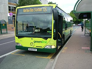 Green Line Coaches - Arriva Shires & Essex Mercedes-Benz Citaro in Ware in July 2010