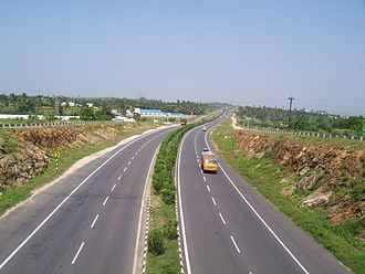 Indian road network - Stretch of North–South Corridor highway between Coimbatore and Salem in Tamil Nadu