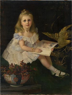 Louise Hanson-Dyer -  Louise, daughter of the Hon. L. L. Smith by Tom Roberts, 1888