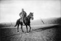 Lt. Karl Linderfelt on horseback near Ludlow, 1914.png