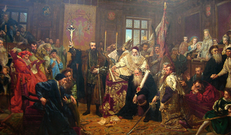 Union of Lublin - The Union of Lublin, painting by Jan Matejko