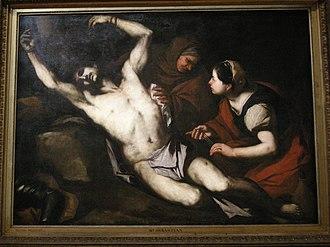 Saint Sebastian Tended by Saint Irene - Luca Giordano, c. 1653. National Gallery of Victoria.